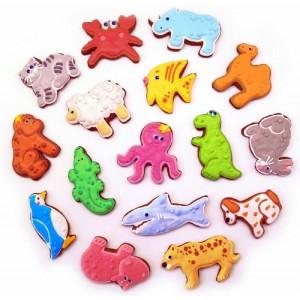 Имбирное печенье в разноцветной глазури (различные формы)